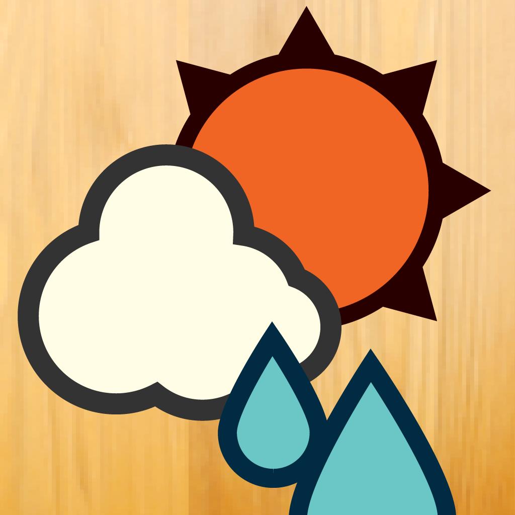 [C]iPhoneアプリ「おてがる天気」を使ってからお天気のチェックが楽しくなったよ。シンプルな表示が一番いいね!