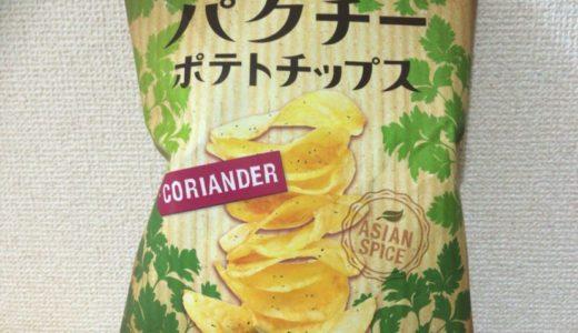 【お菓子レビュー】パクチー好きがこよなく愛するカルディのパクチーポテトチップス