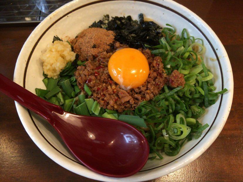 [C]堺筋本町にある麺屋やまひでで台湾まぜそば初体験!