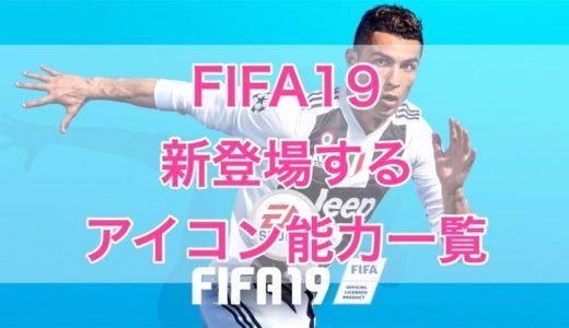 FIFA19から新登場するアイコン(ICONS)レジェンド選手の能力一覧(レーティング)
