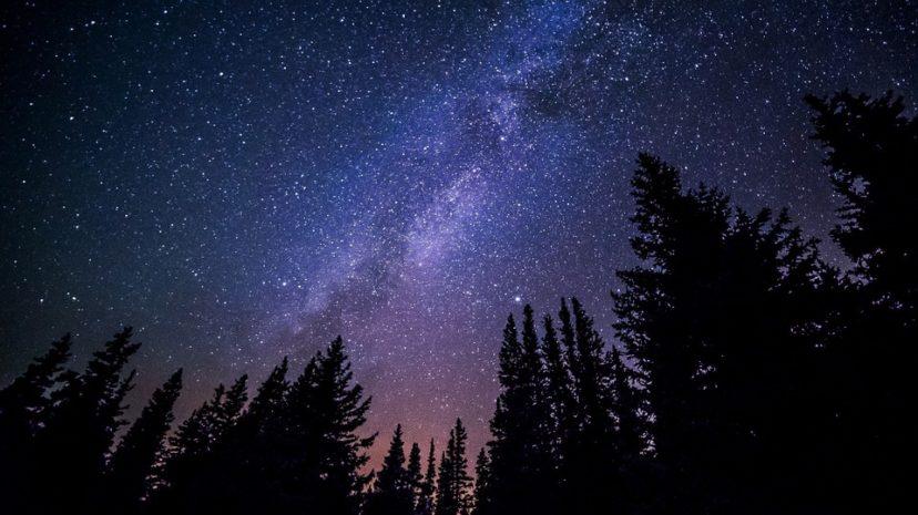 キャンプで見たきれいな星空