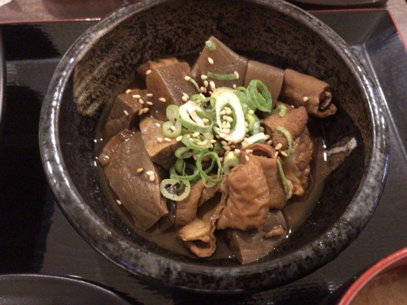 堺筋本町酒場のどて煮定食