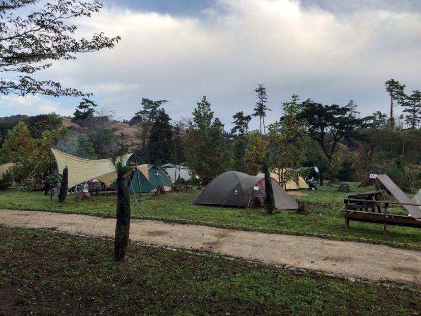 神鍋高原キャンプ場のフリーサイト